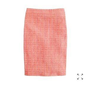 J. Crew No. 2 Pencil Skirt neon tweed XS 0 $128